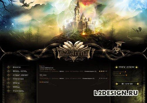 Дизайн сайта lineage 2